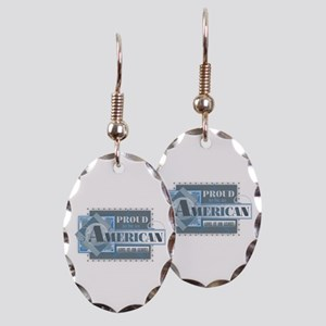 Proud to be an American Earring Oval Charm