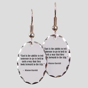 tact:Winston Churchhill Earring Oval Charm