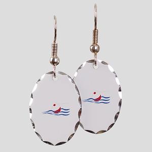 FISHING BOBBER Earring Oval Charm