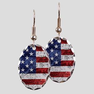 Grunge American Flag Earring