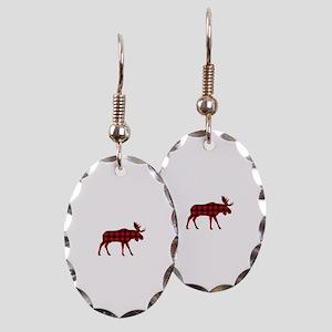 Plaid Moose Animal Silhouette Earring