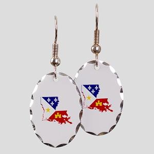 Acadiana State of Louisiana Earring Oval Charm