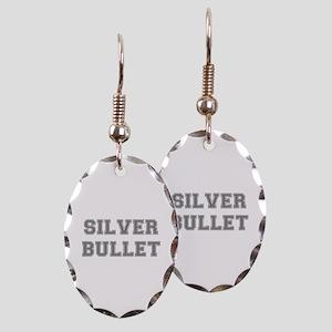 SILVER BULLET Earring Oval Charm