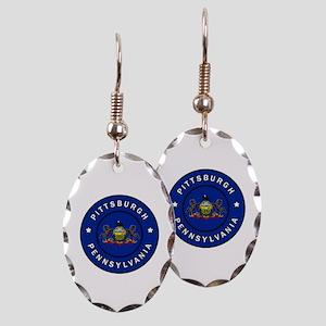 Pittsburgh Pennsylvania Earring Oval Charm