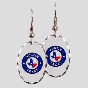 Austin Texas Earring Oval Charm