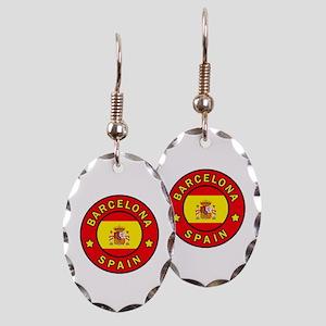 Barcelona Spain Earring Oval Charm