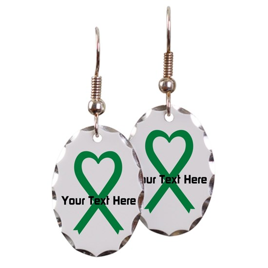 Personalized Green Ribbon Heart