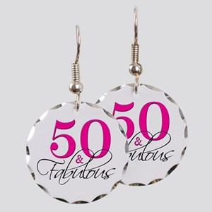 50 and Fabulous Pink Black Earring