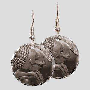 Thai Buddha Earring Circle Charm