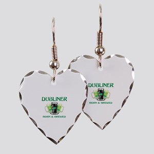 Dubliner Ireland born and brewed Earring Heart Cha