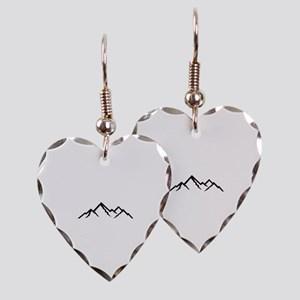 Mountains Earring Heart Charm