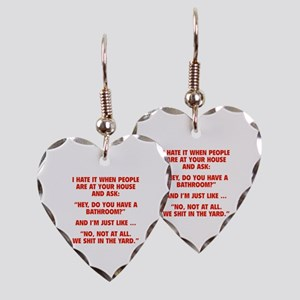 Do You Have A Bathroom? Earring Heart Charm