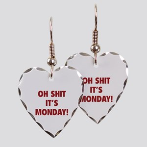 OH SHIT IT'S MONDAY Earring Heart Charm