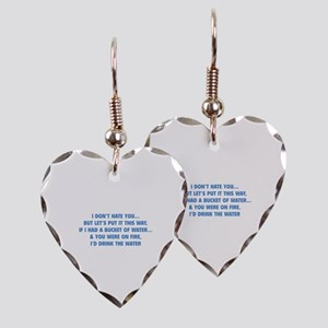 I don't hate you Earring Heart Charm