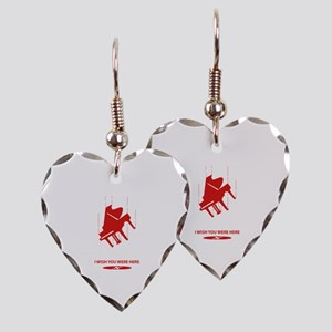 I Wish You Were Here Earring Heart Charm