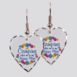 Camping Happy Place Earring Heart Charm