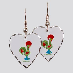 Traditional Portuguese Rooster Earring