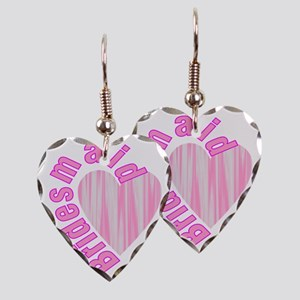 pink bachelorette party brides Earring Heart Charm