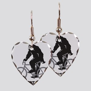 Bigfoot Rides Earring Heart Charm
