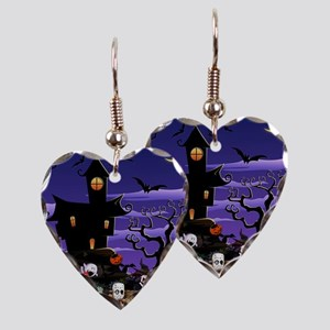 Kids Halloweening Earring Heart Charm
