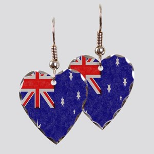 Vintage ink Australian Flag. Earring