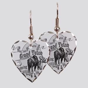 Grand Teton Vintage Moose Earring Heart Charm