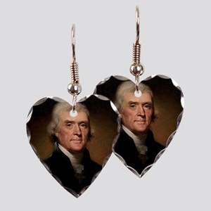 thomas jefferson Earring Heart Charm