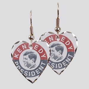 kennedypresident1960 copy Earring Heart Charm