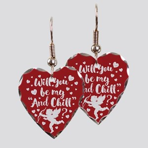 Be My And Chill Valentine Earring