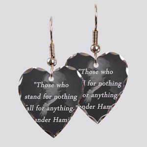 Hamilton - Stand for Nothing Earring Heart Charm