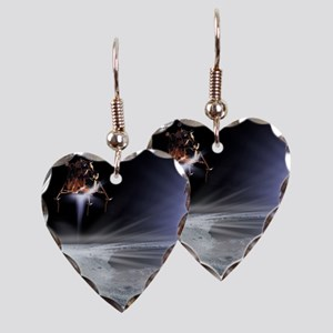 Apollo 11 Moon landing, comput Earring Heart Charm