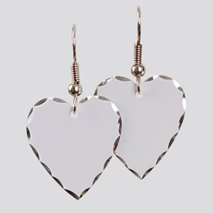 Art Deco Woman green hat Earring Heart Charm