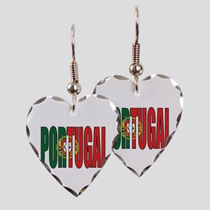 Portugal Earring Heart Charm