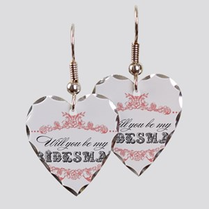 Will You Be My Bridesmaid? Earring Heart Charm