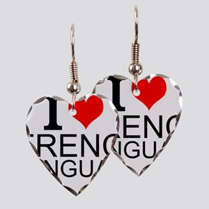 I Love French Language Earring