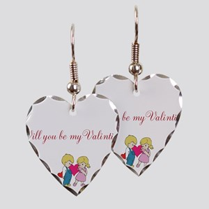 Will you be my Valentine Earring Heart Charm