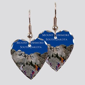 Customizable Mt Rushmore Avenue of Flags Earring H
