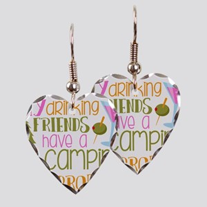 My Drinking Friends Have A Cam Earring Heart Charm