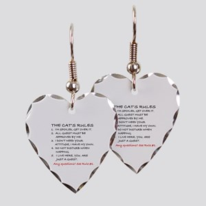 THE CAT'S RULES Earring Heart Charm