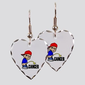 Piss On Cancer -- Cancer Awareness Earring Heart C
