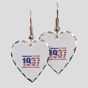 1937 Made In America Earring Heart Charm