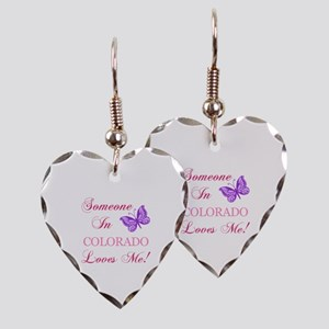Colorado State (Butterfly) Earring Heart Charm