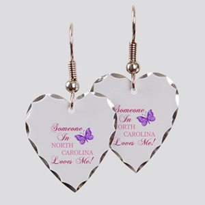 North Carolina State (Butterfly) Earring Heart Cha