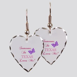 Texas State (Butterfly) Earring Heart Charm
