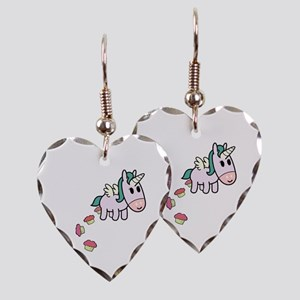 Unicorn Sweets Earring Heart Charm