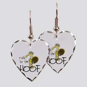Talk to the Hoof Heart Earrings