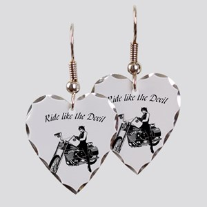 Ride Like The Devil Earring Heart Charm