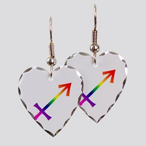 Sagitarius Earring Heart Charm