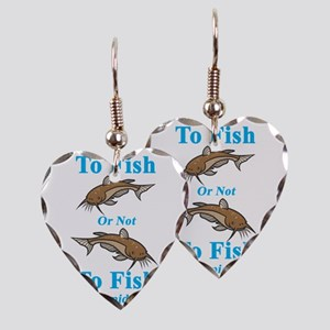 Catfish Cyan To Fish or Not to Earring Heart Charm