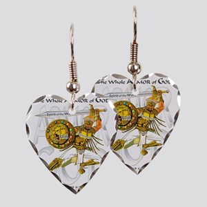 Whole Armor of God--Silver Earring Heart Charm